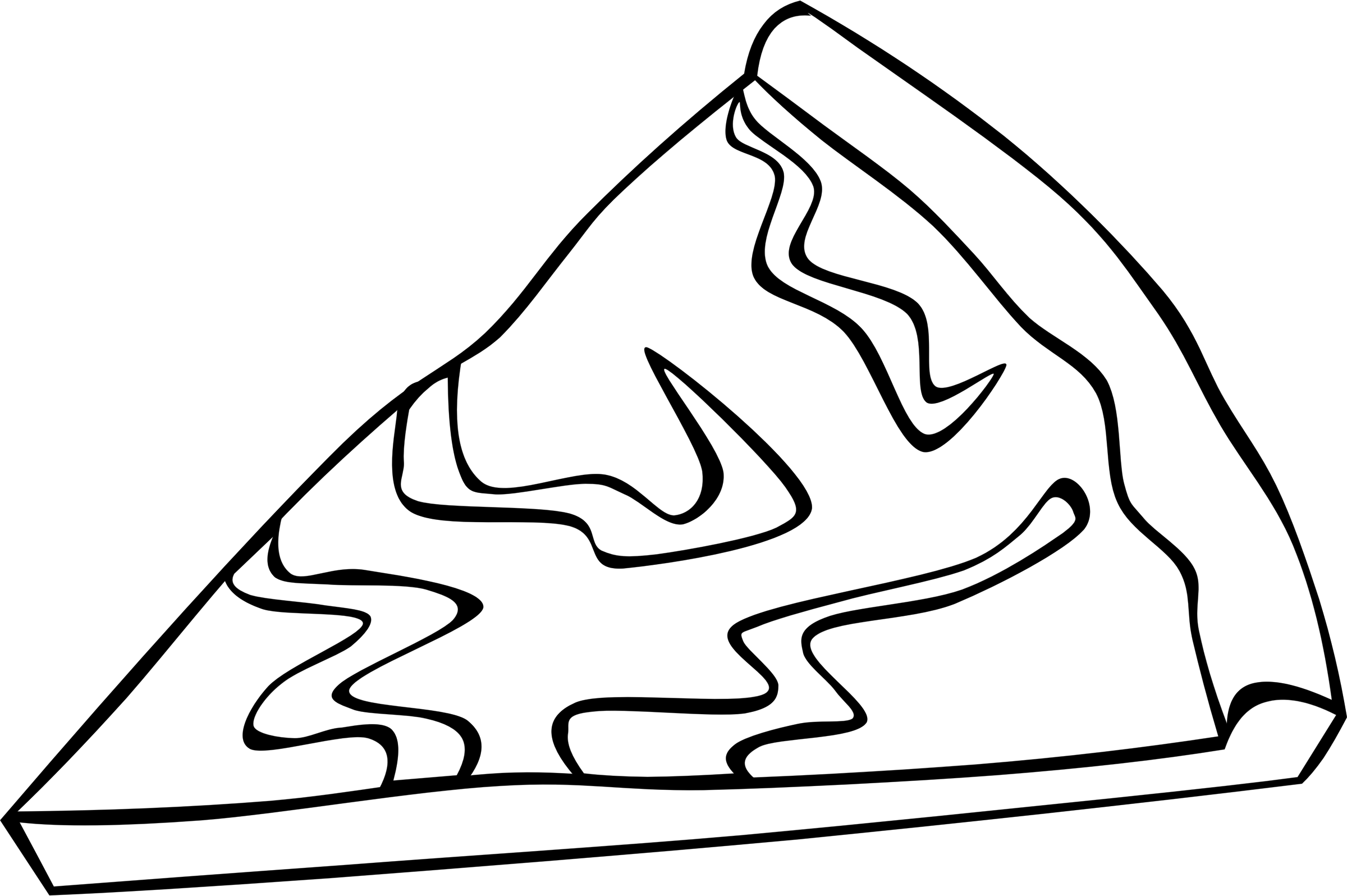 pizza clipart black and white