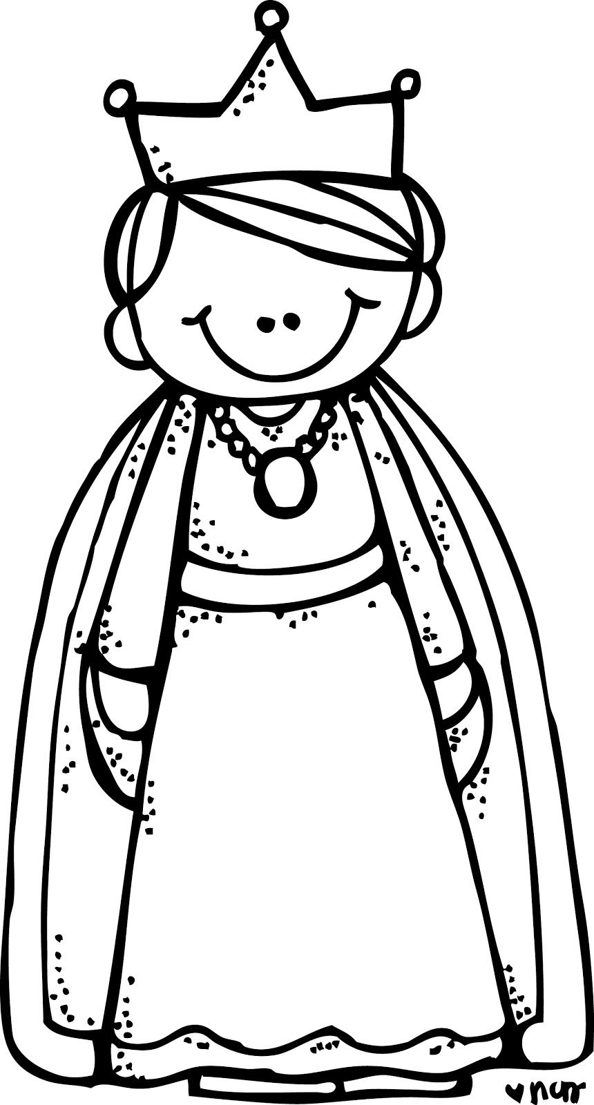 Queen clipart coloring book. Pin by caroline farret