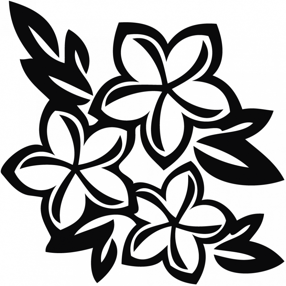 Coloring clipart rose. Roses black and white