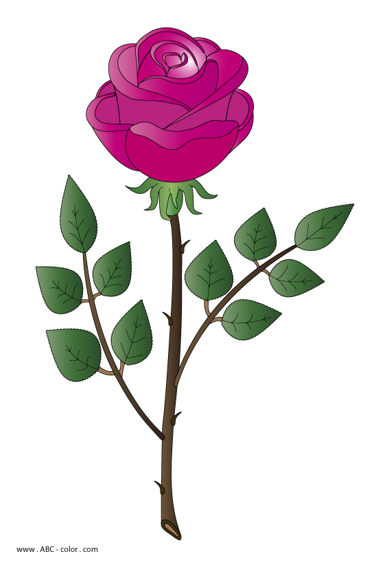 Mobile telephone transmission raster. Coloring clipart rose