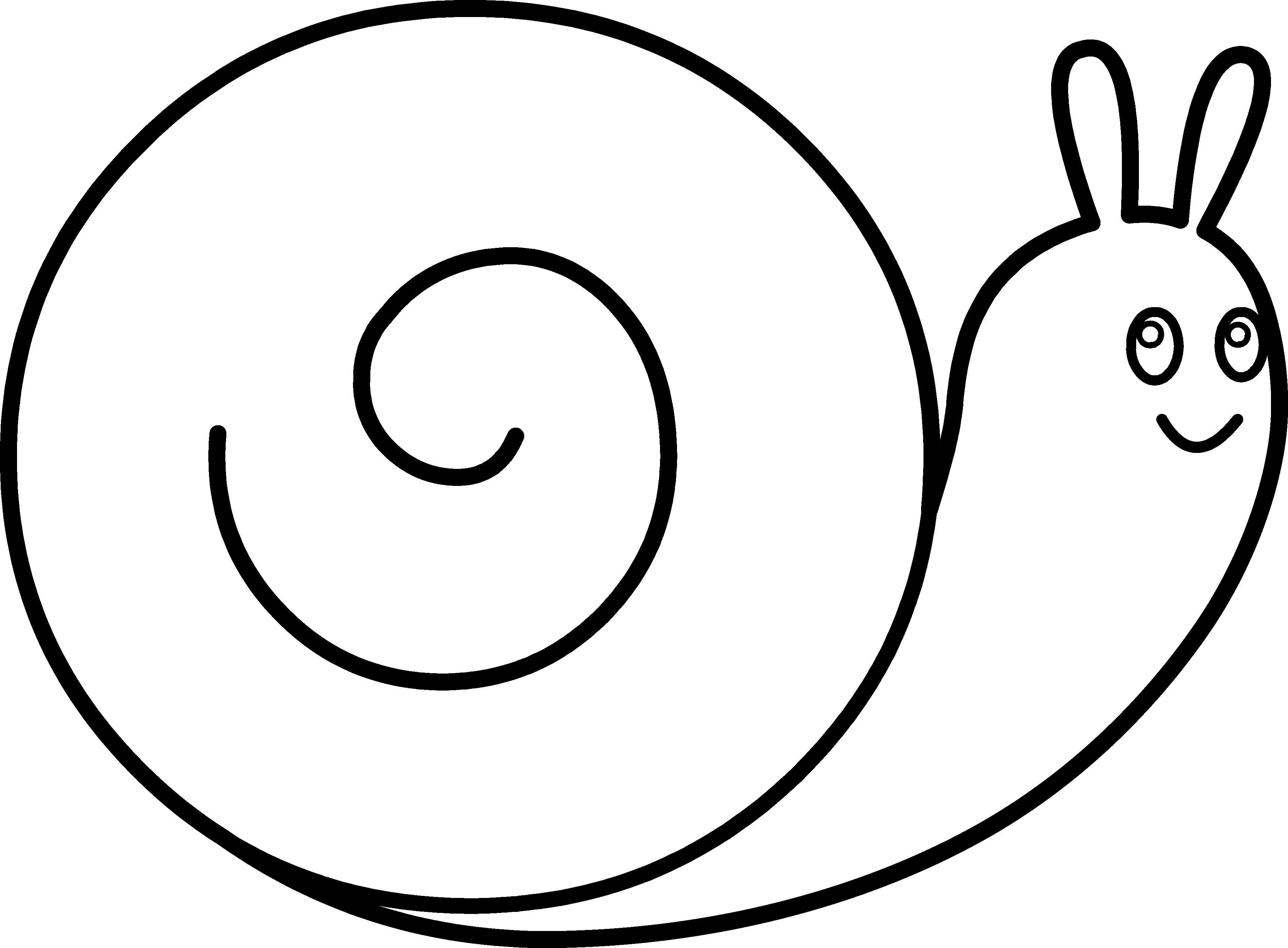 Cute Snail Coloring Page