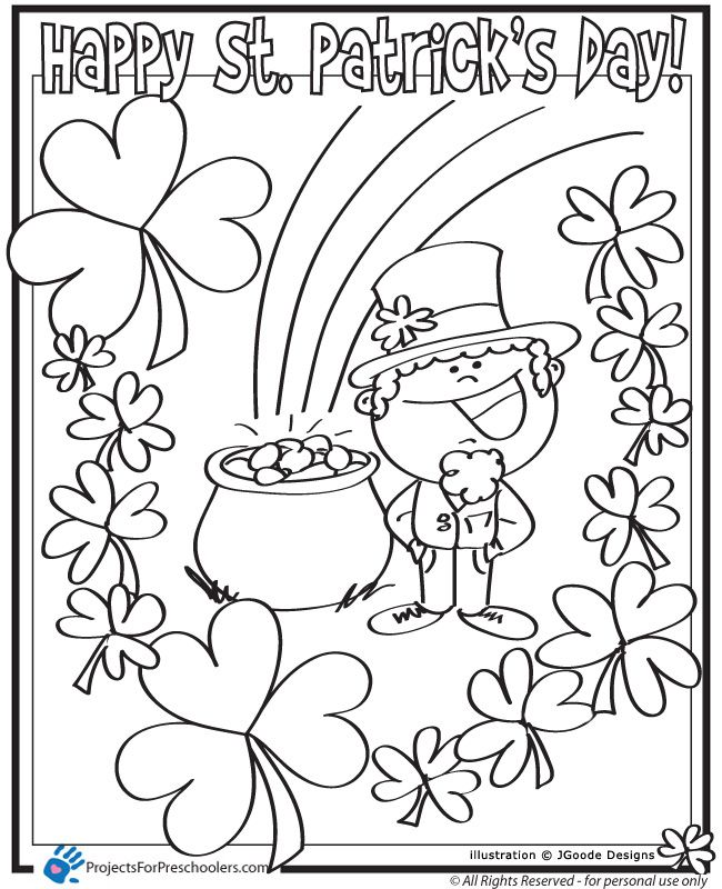 Patrick s printables pages. Coloring clipart st patricks day