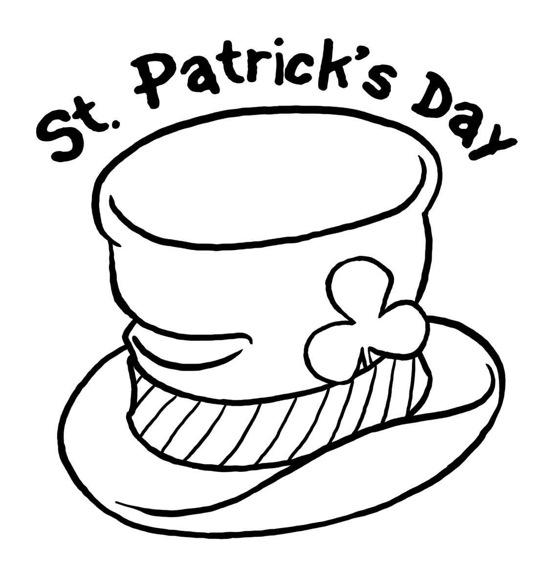 Coloring clipart st patricks day. Free drawings download clip