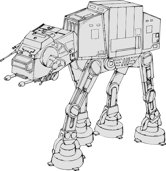 Space camel tank clip. Starwars clipart black and white