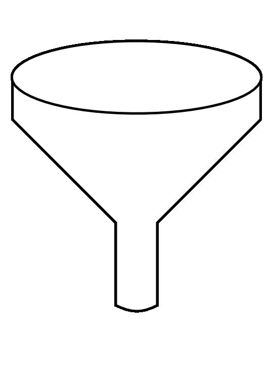 Funnel adobe illustrator clip. Coloring clipart table