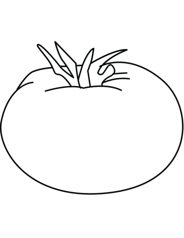 Tomatoes clipart coloring page. Tomato free printable pages