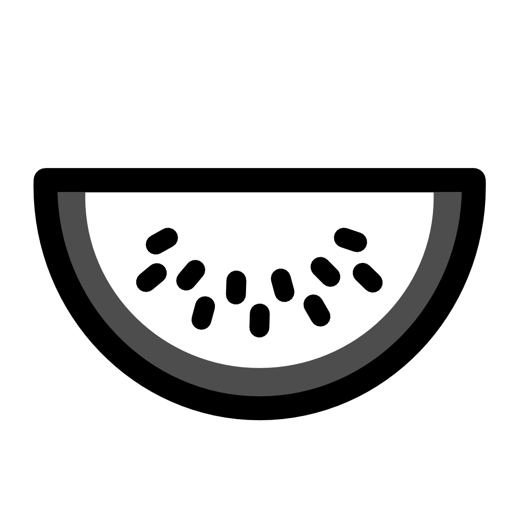 Black and white finest. Coloring clipart watermelon