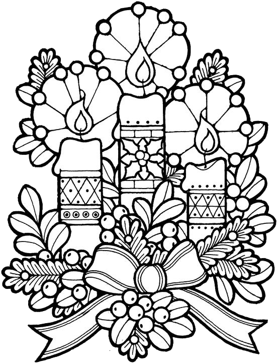 Rose window coloring page. Nativity clipart stained glass