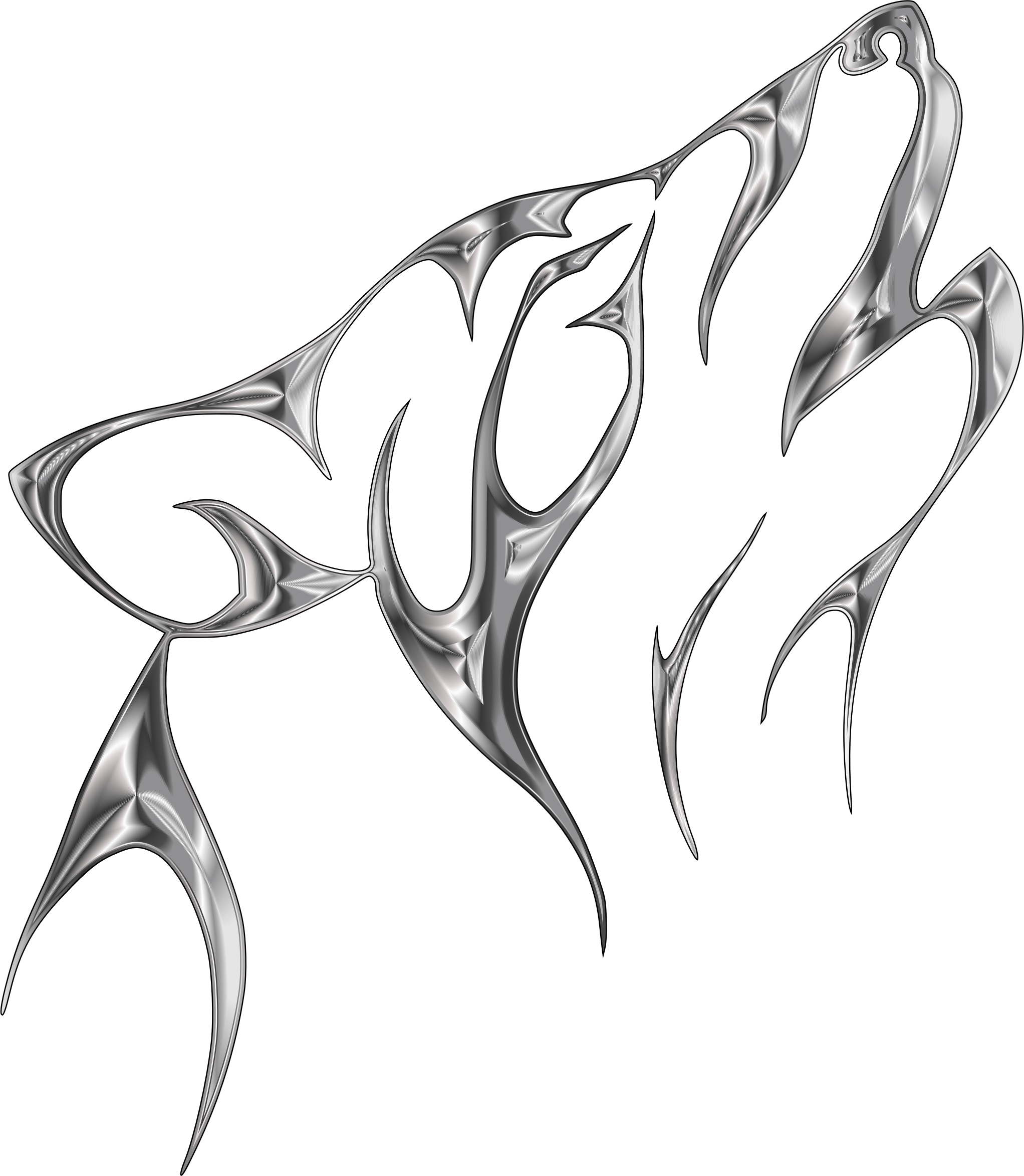 Wolf clipart abstract. Steel tribal no background