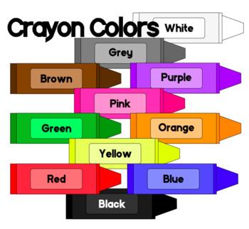 Colors clip art freebie. Crayon clipart coloured crayon