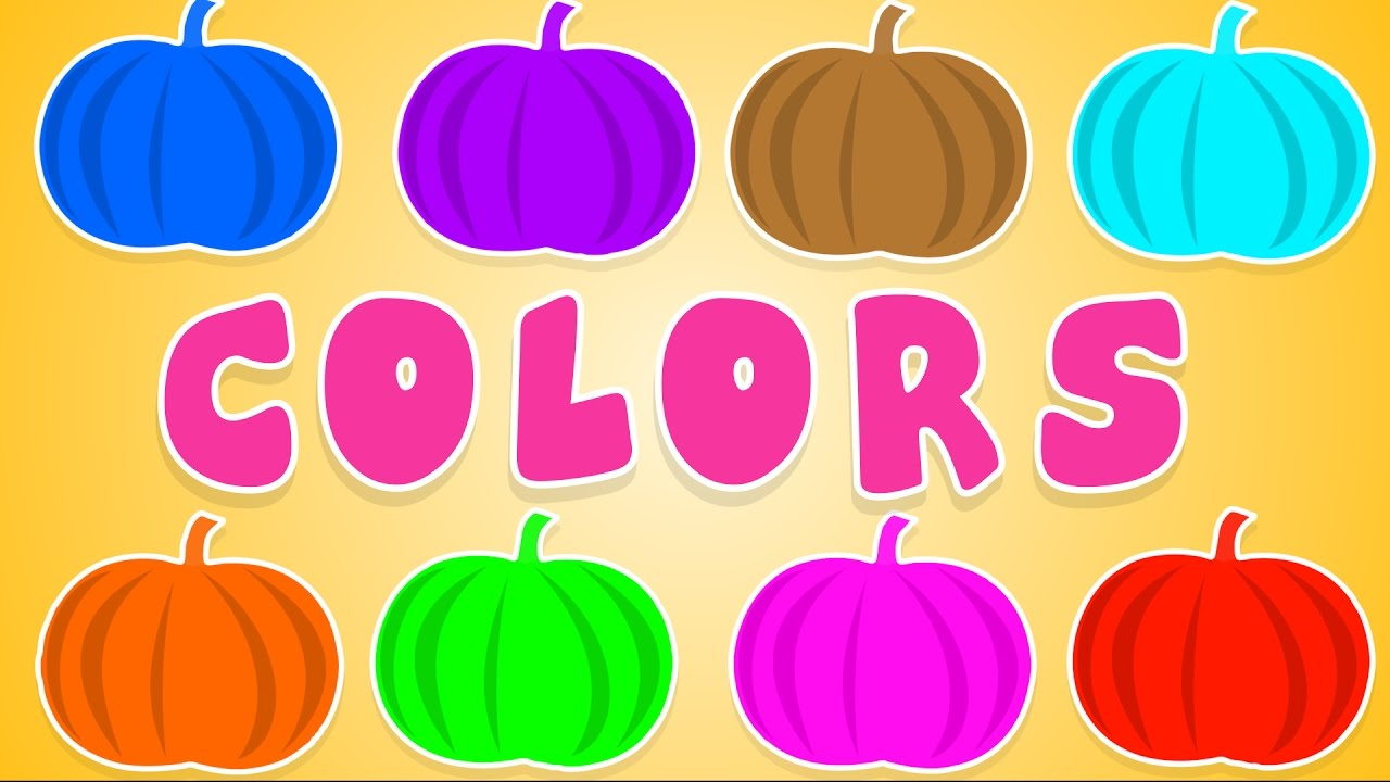 Colors clipart. Kbc pumpkin song learn