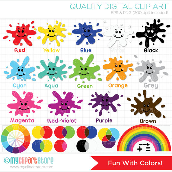 Colors clipart. Fun with back to