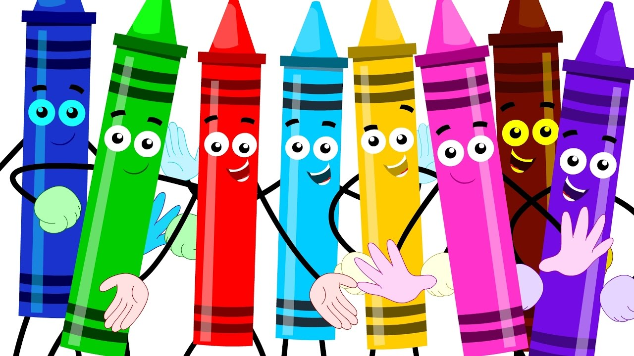 Hokey pokey learn crayons. Colors clipart