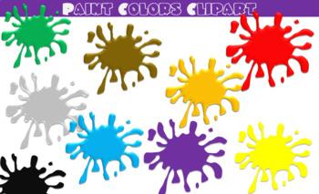 Paint splatter . Colors clipart