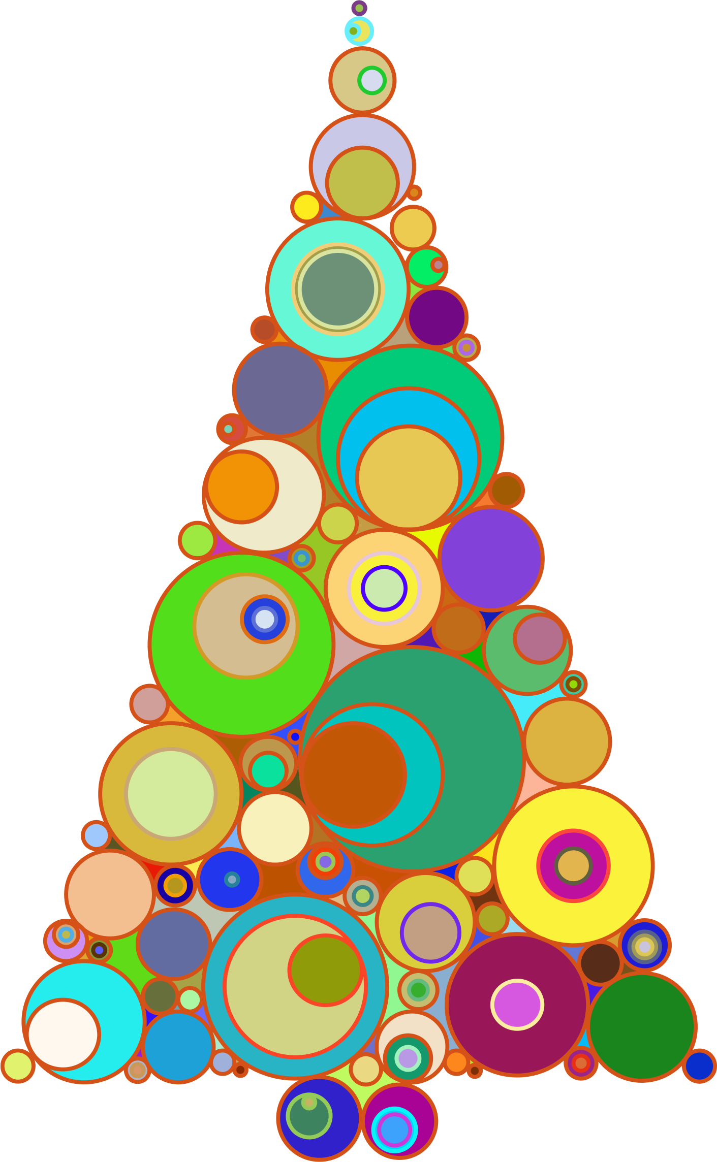 Colors clipart abstract. Colorful circles christmas tree