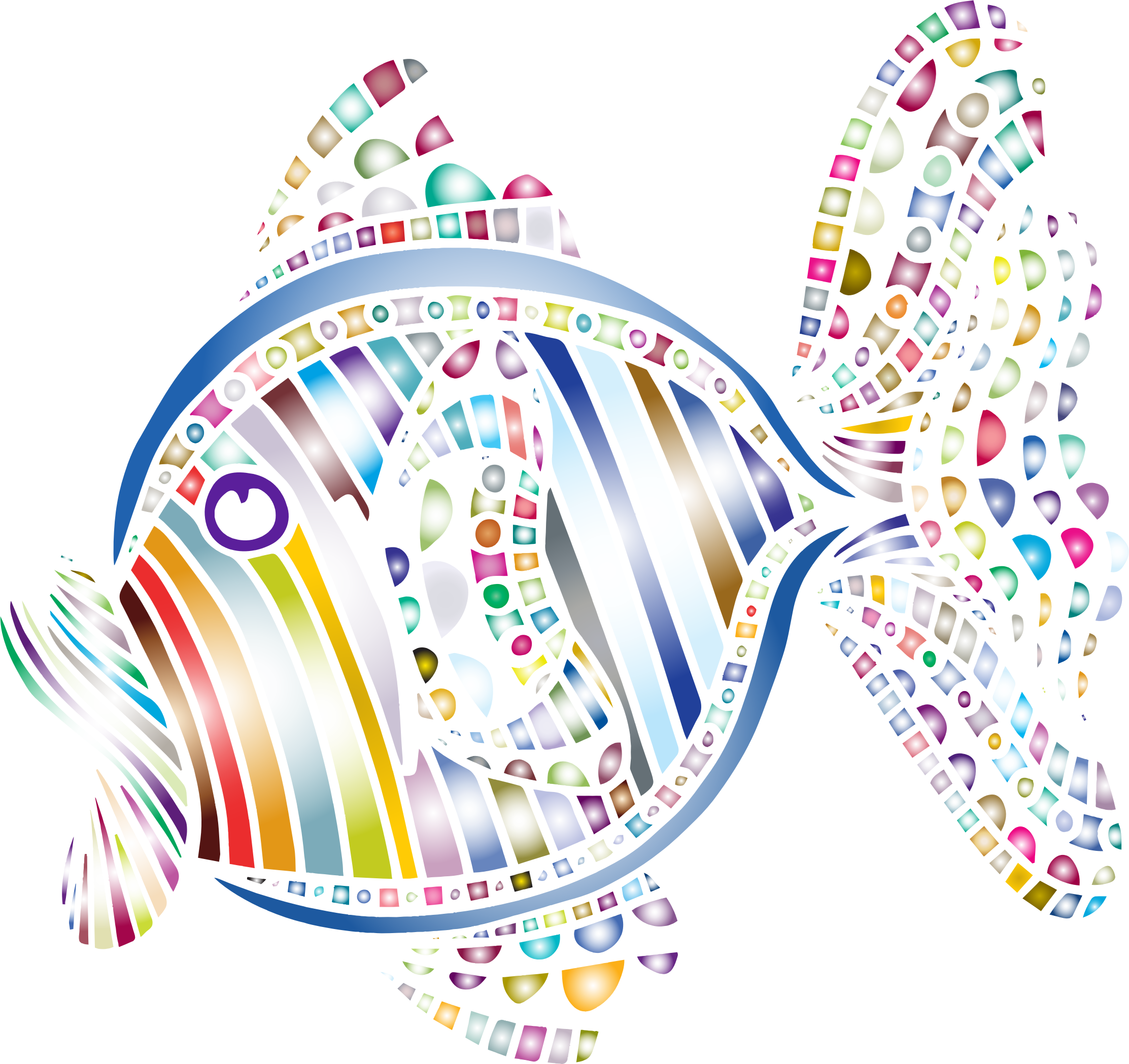 Colors clipart abstract. Colorful fish icons png