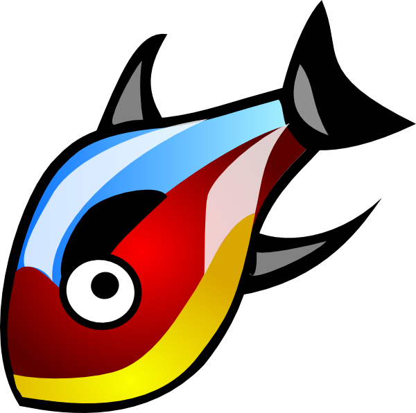 Colorful fish clip art. Colors clipart animated