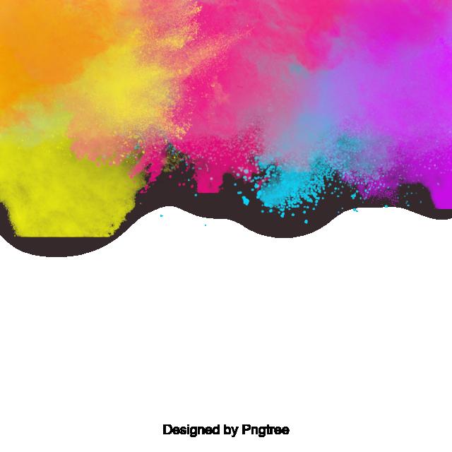 Colors clipart background. Colorful splatter paint splash