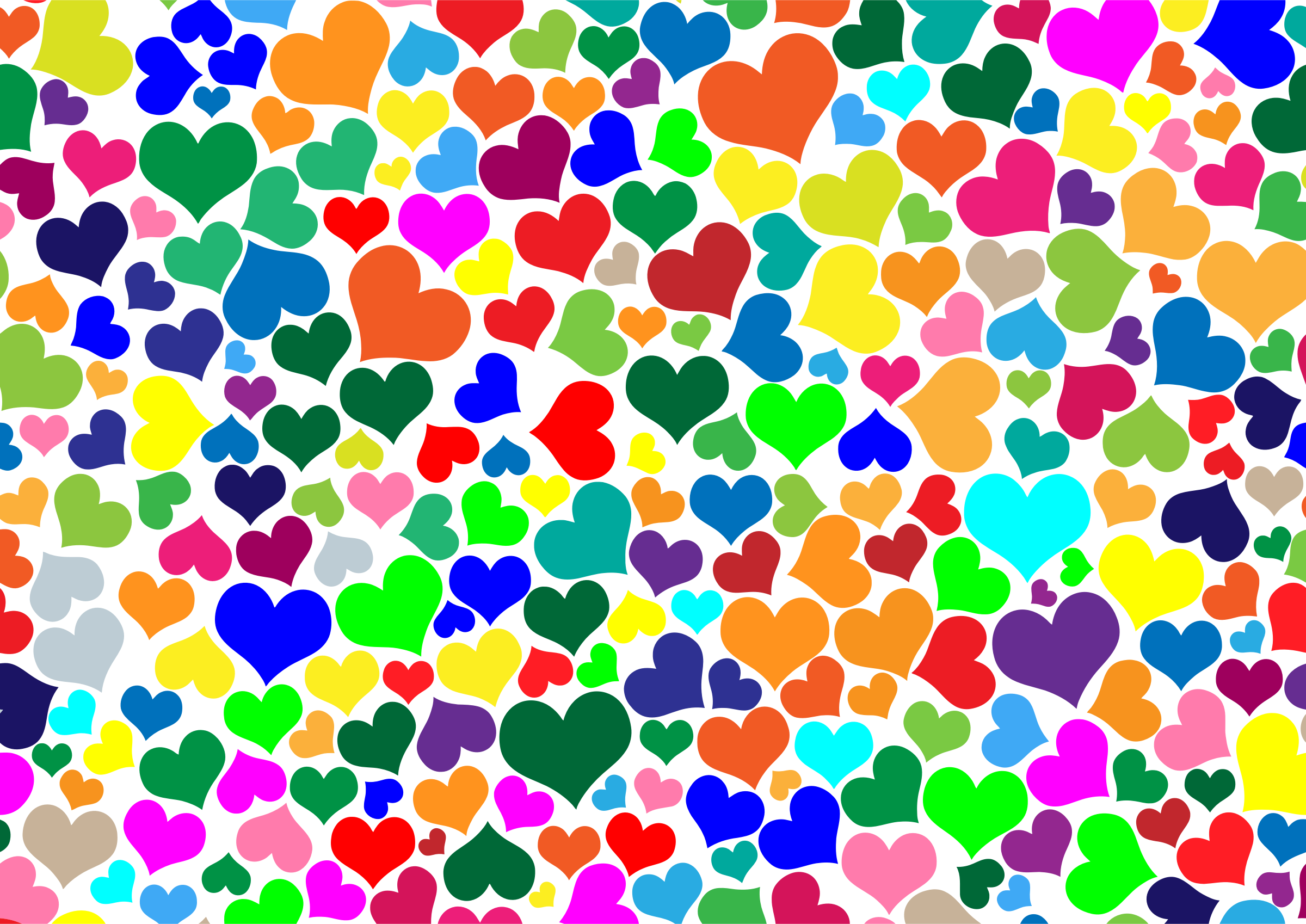 Colorful hearts. Colors clipart background