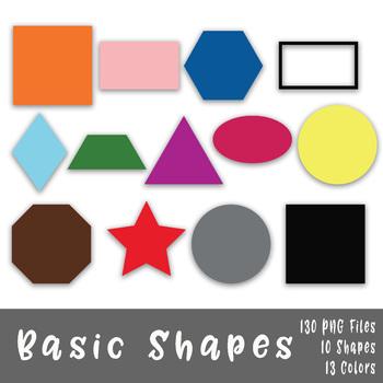 Shapes clip art d. Colors clipart basic