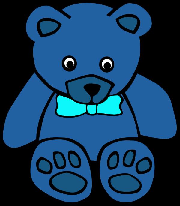 Blue teddy bear free. Colors clipart bears