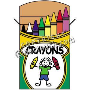 Clip art crayon color. Colors clipart box