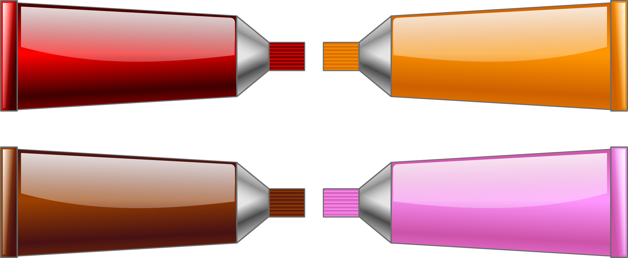 Colors clipart brown. Color tube red orange