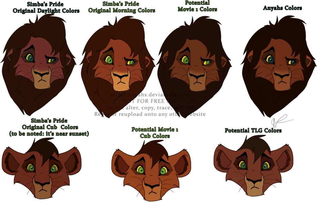 Of kovu by anyahs. Colors clipart brown hair