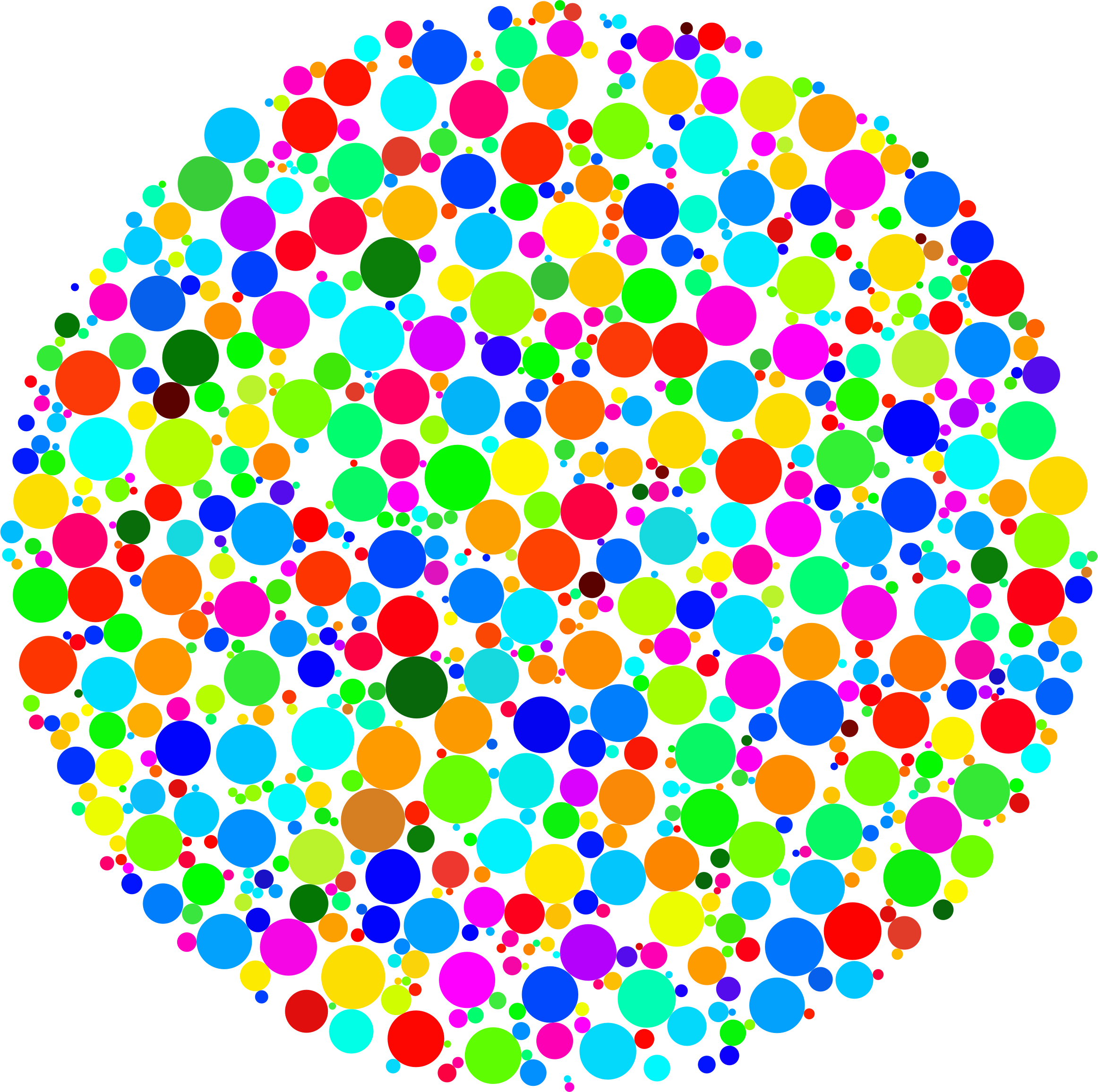 Dot clipart circle. Colorful fractal icons png
