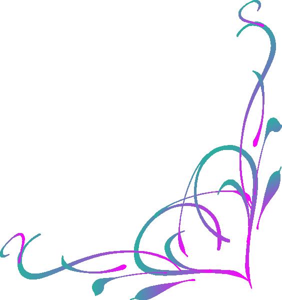 Purple clipart corner. Heart swirl clip art
