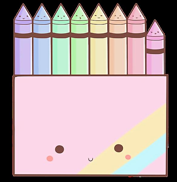 Colors tierno lindo colorful. Crayons clipart kawaii