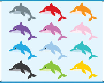 Dolphin clipart colorful. Color clip art library