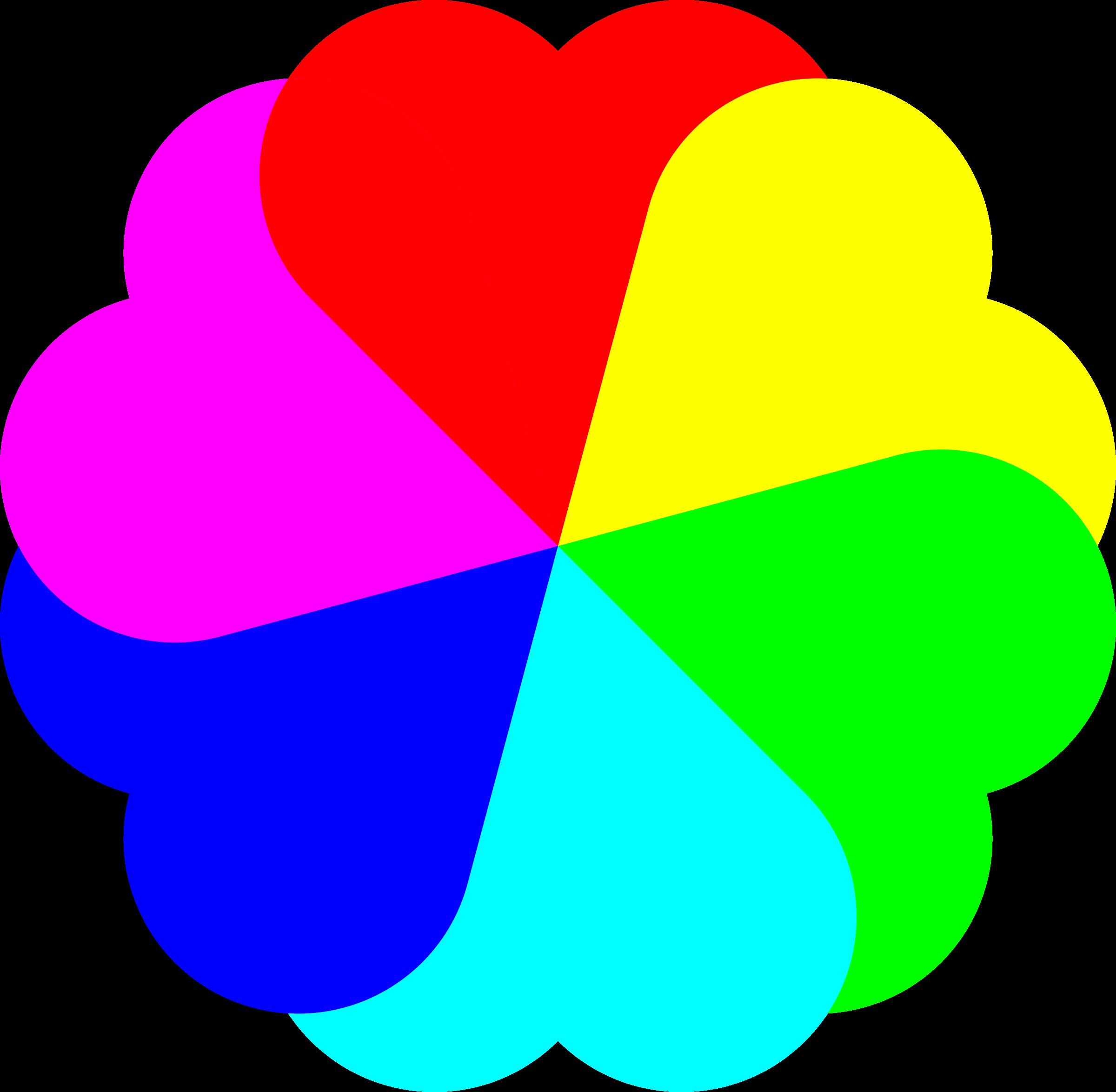Colors clipart eye. Flowerheart spectrum big image