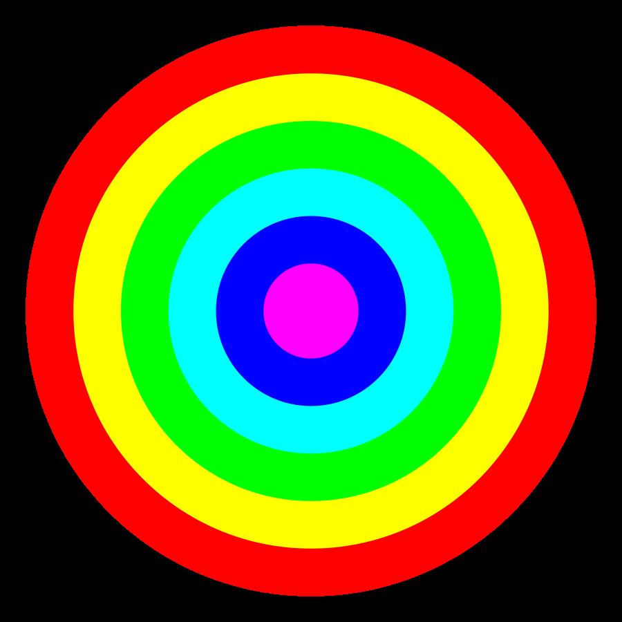 Colors clipart eye. Target clip art bullseye