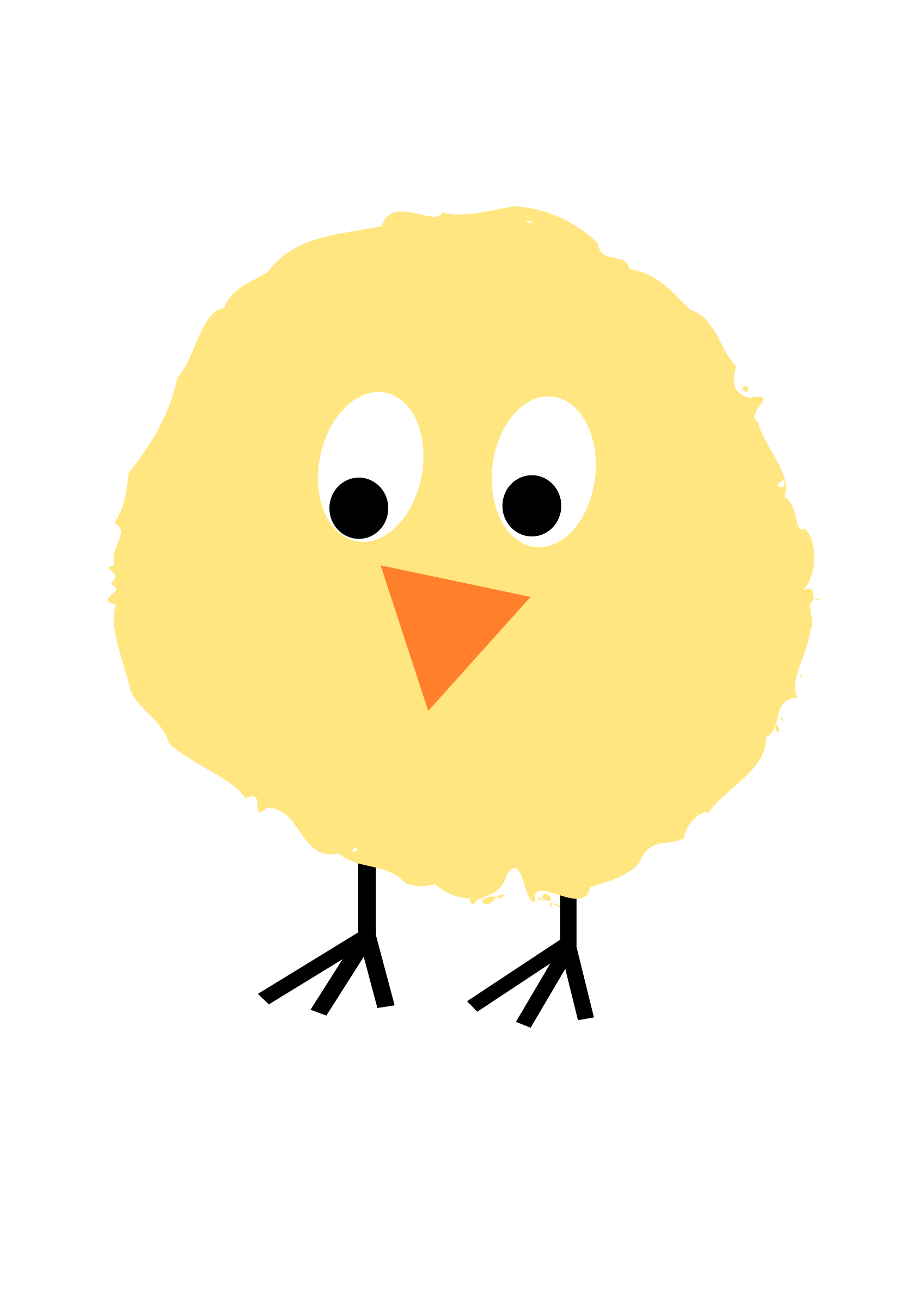 Fluffy chick by ejmillan. Colors clipart eye