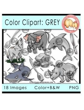 Colors clipart grey. Color objects awesome clip