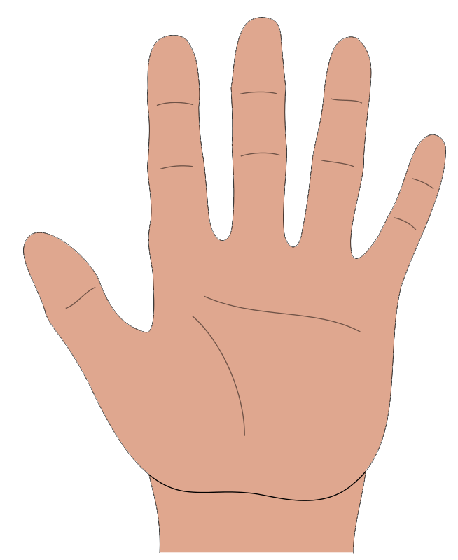 Fingers clipart open hand. Cartoon cliparts co im