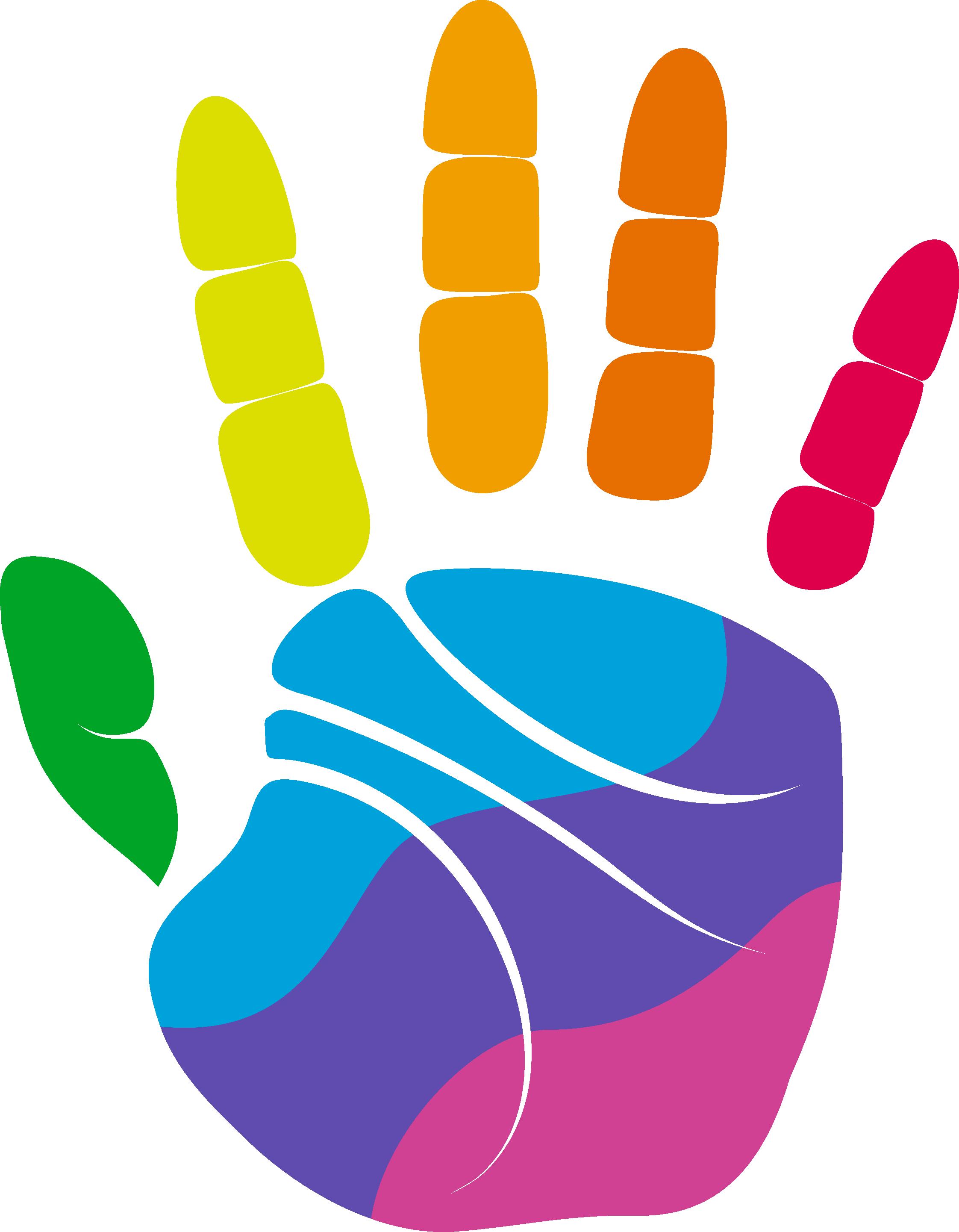 colors clipart hand palm