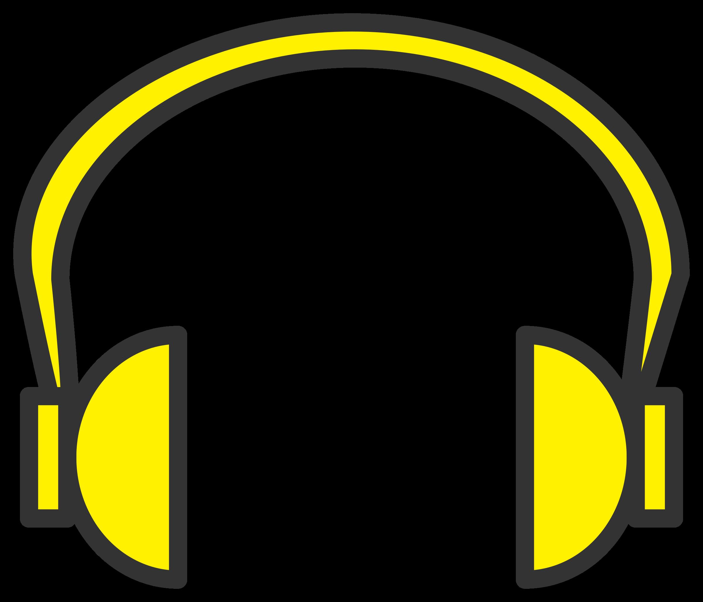 Colors clipart headphone. Headphones big pencil and