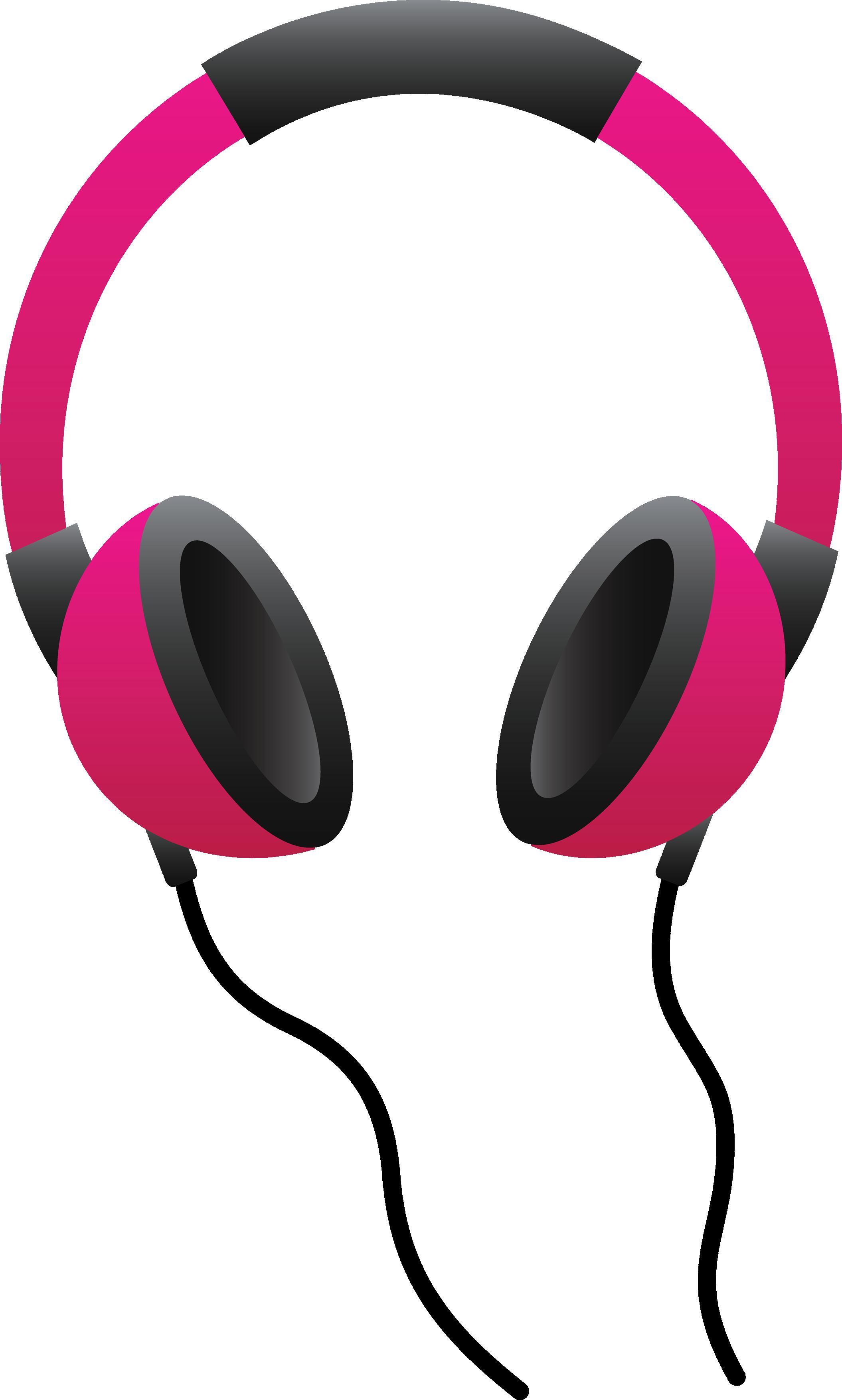 Headphones jack pencil and. Colors clipart headphone