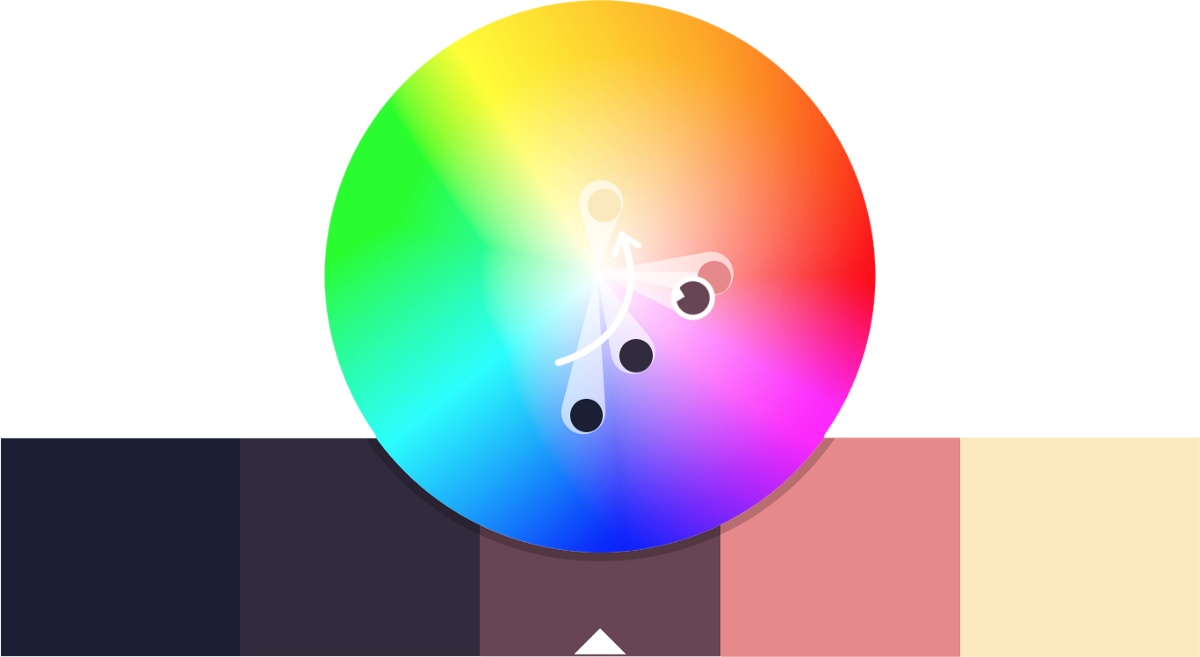 Down the color wheel. Colors clipart hue