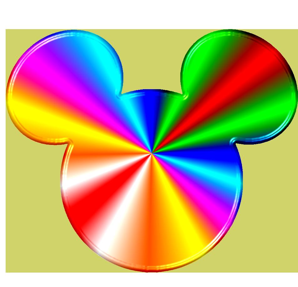 Colors clipart mouse. Rainbow mickey head disney