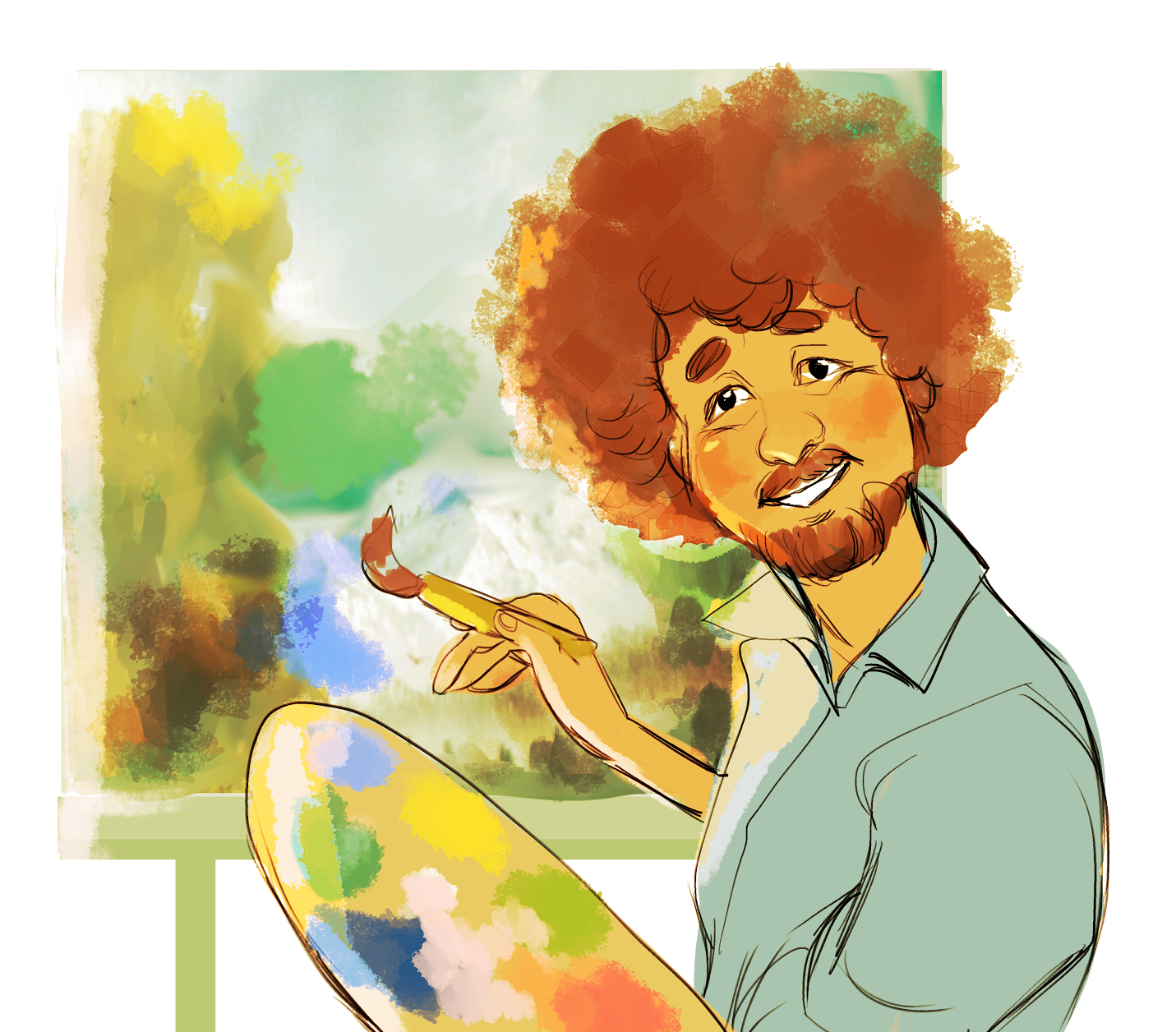 Paint person painting