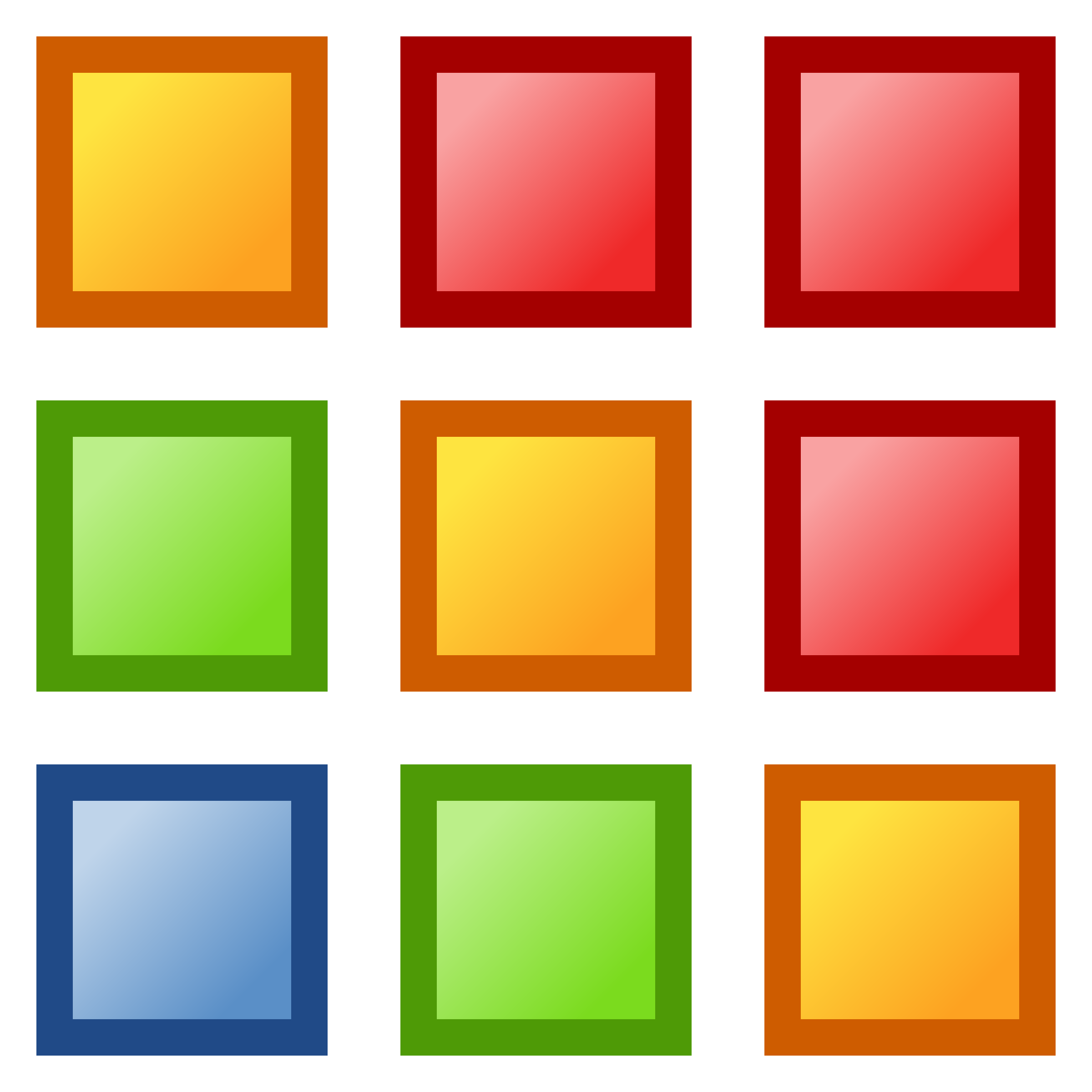 Icon colors png image. Square clipart red color