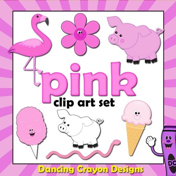 Clip art color series. Colors clipart pink