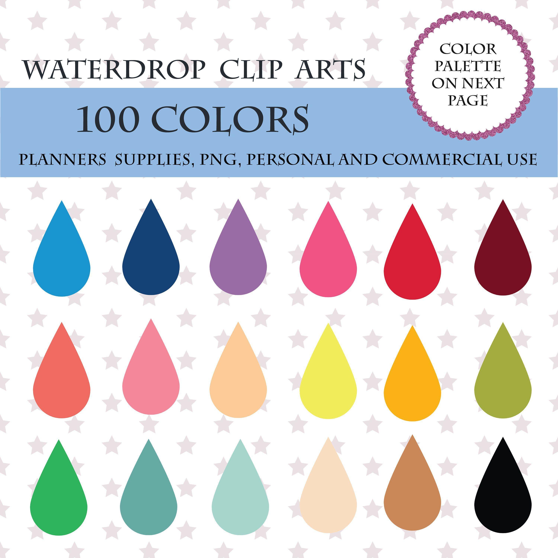 colors clip art. Raindrop clipart colored