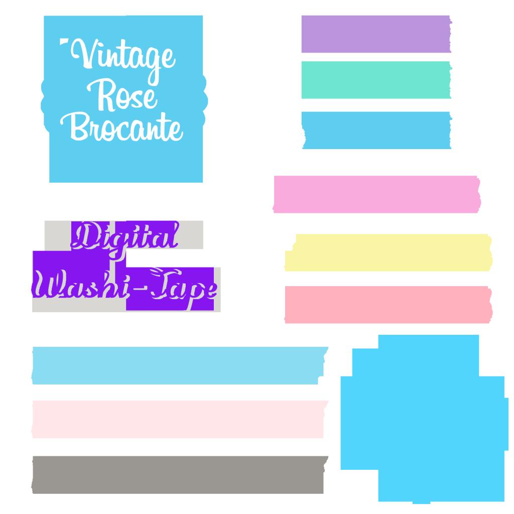 Scrapbook clipart tape. Free digital washi solid