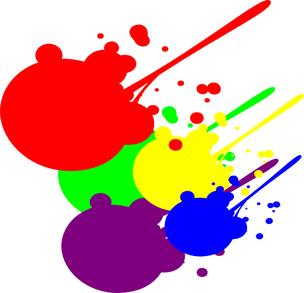 Splatter clip art at. Paint clipart paint drip