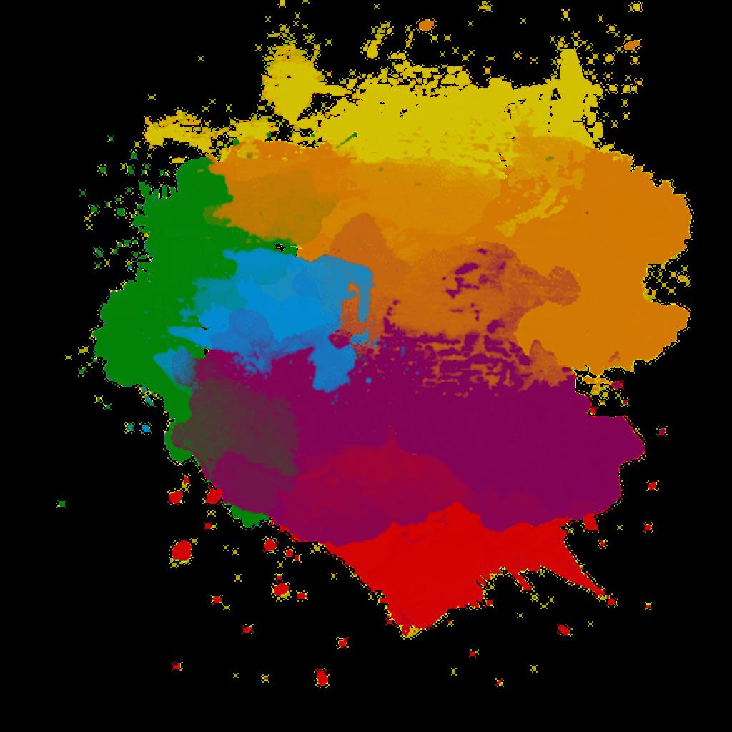 Colors clipart splash.  colorful paint png