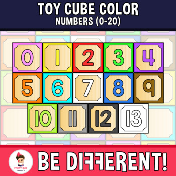 Colors clipart toy. Cube color numbers